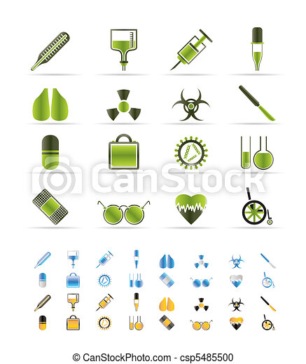 collection of  medical themed icons - csp5485500