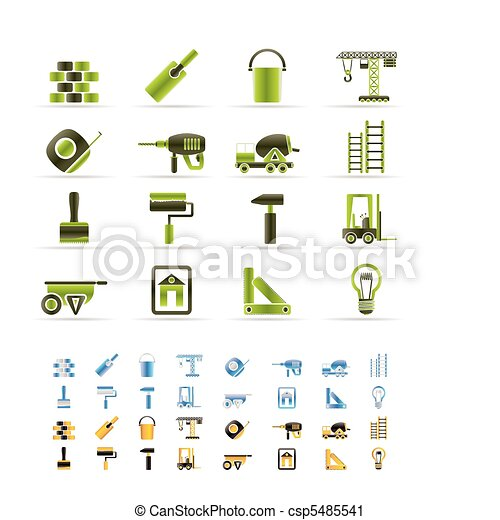 Construction and Building icons  - csp5485541