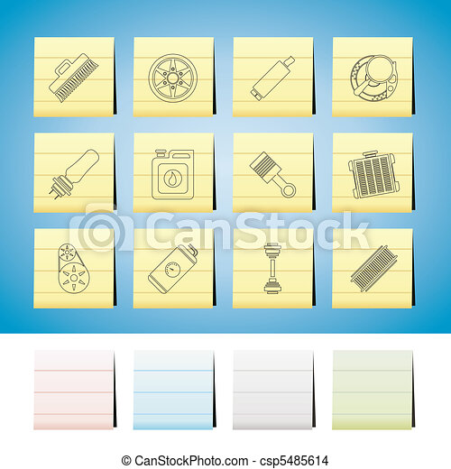 Car Parts and Services icons - csp5485614