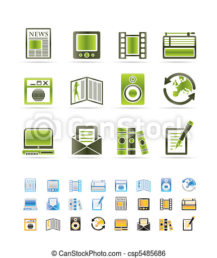 Media and information icons  - csp5485686