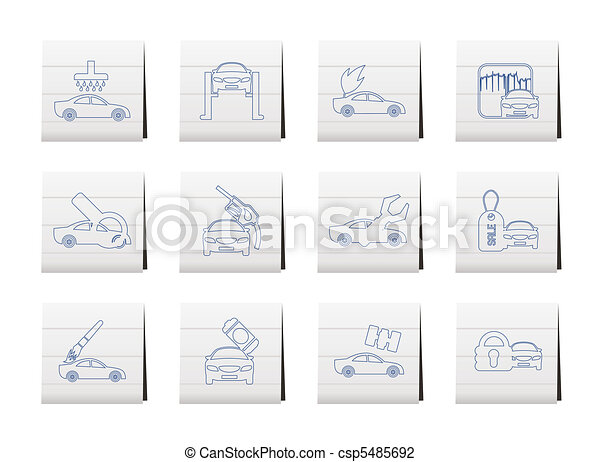 car and automobile service icon  - csp5485692