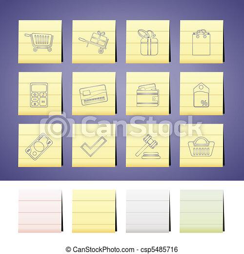 Online shop icons  - csp5485716