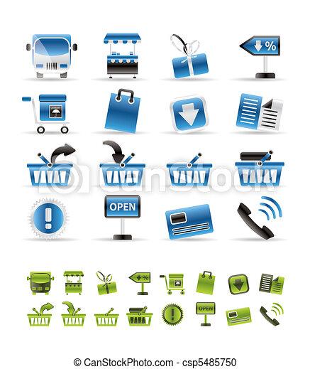 Online shop icons - vector icon set - csp5485750