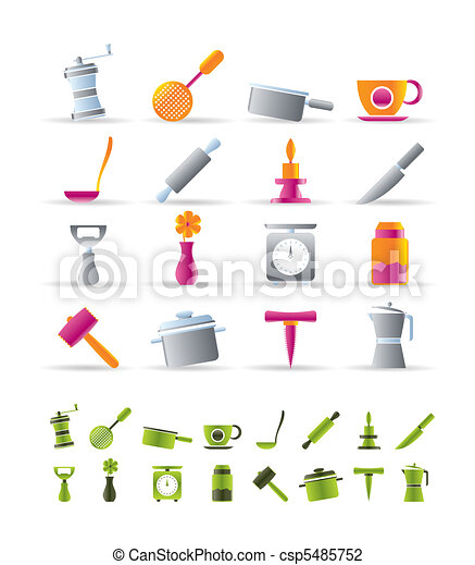 Kitchen and household tools icons - csp5485752