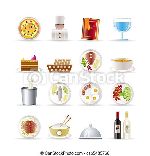 Restaurant, food and drink icons - csp5485766