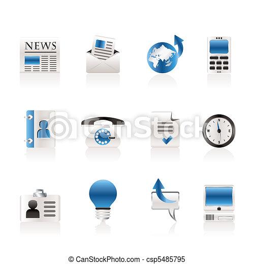 vecteur business bureau ic nes banque d 39 illustrations illustrations libres de droits. Black Bedroom Furniture Sets. Home Design Ideas