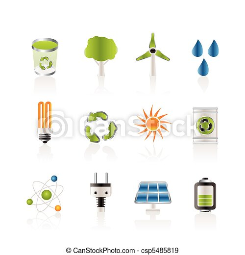 Ecology, energy and nature icons - csp5485819