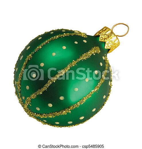 green christmas ballon - csp5485905