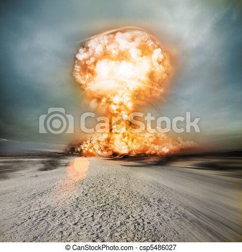 Modern Nuclear Explosion - csp5486027