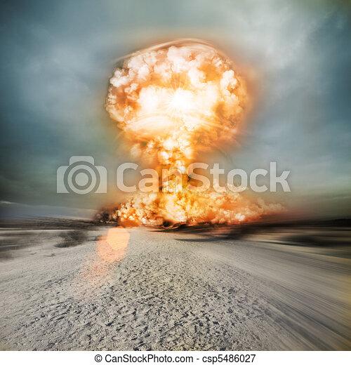 Modern Nuclear Explosion - csp5486027