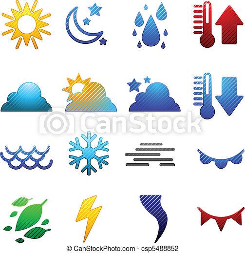 Weather icons - csp5488852