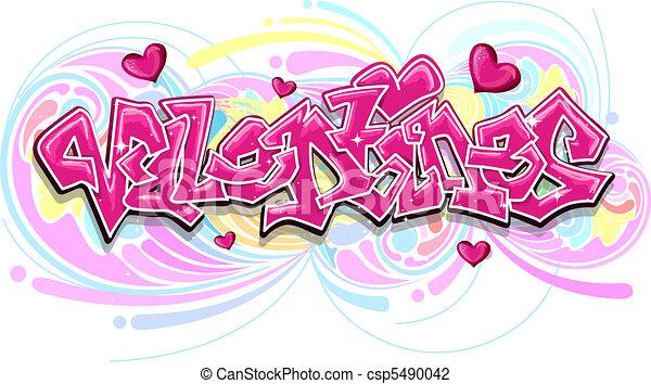 Valentine Graffiti - csp5490042