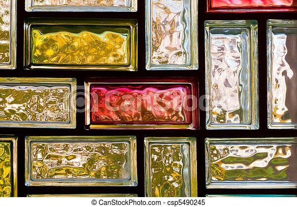 Banco de imagens de Tijolos, vidro, coloridos - luz, distorcer, coloridos,... csp5490245 ...