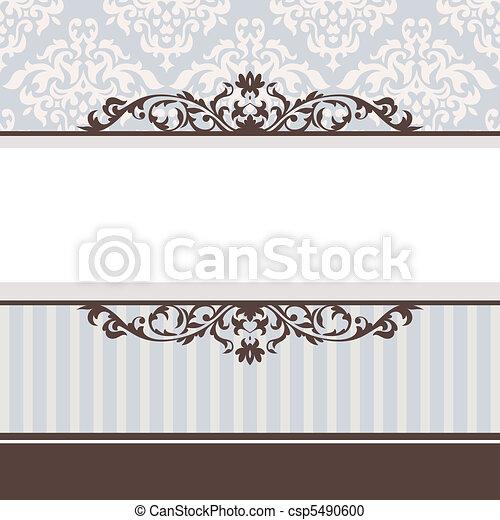 decorative vintage frame - csp5490600