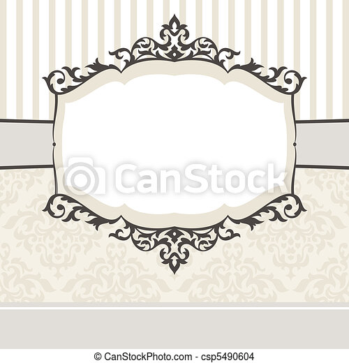 decorative vintage frame - csp5490604