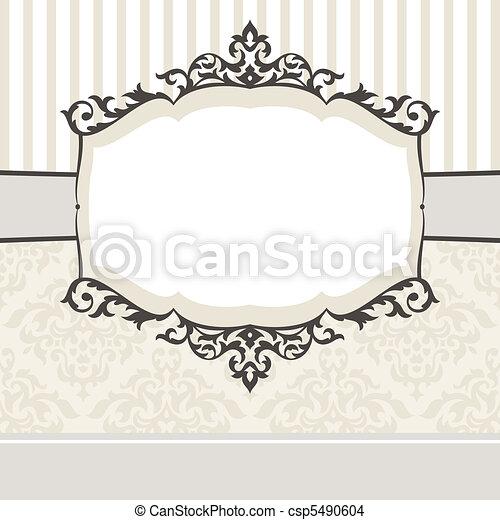 decorative vintage frame - csp5490604