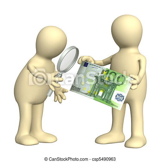 Authentication of the banknote - csp5490963