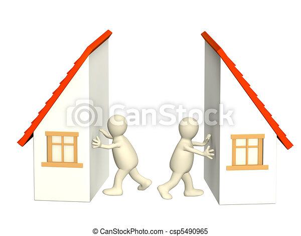 Division of property at divorce - csp5490965