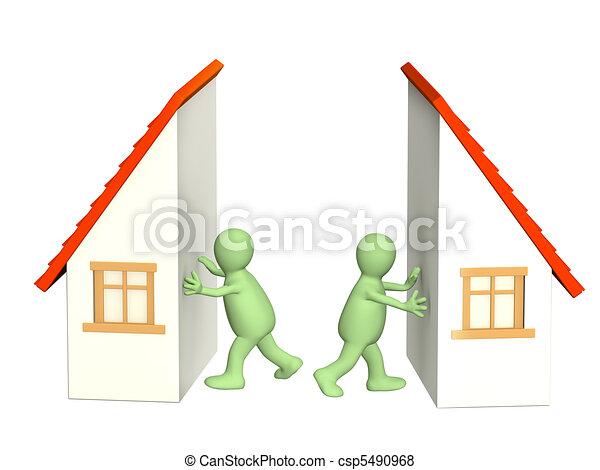 Division of property at divorce - csp5490968