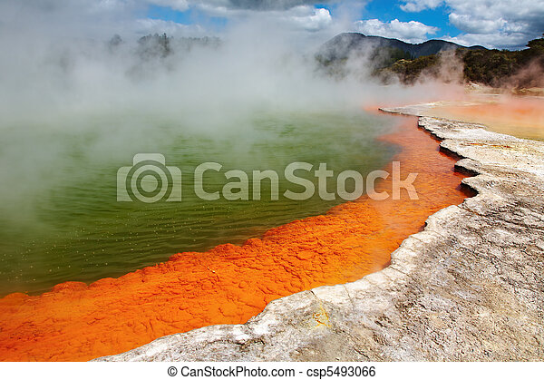 Hot thermal spring, New Zealand - csp5493066