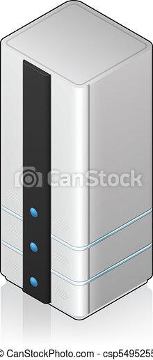 Futuristic Tower Server Rack - csp5495255