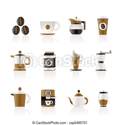 coffee industry signs and icons  - csp5495701