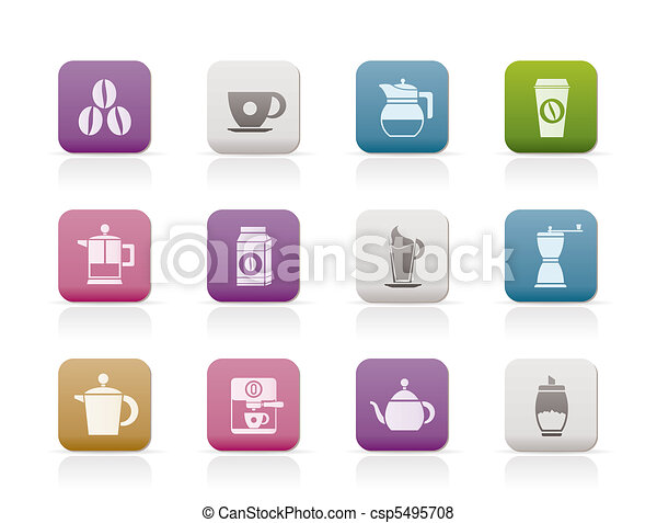 coffee industry signs and icons  - csp5495708