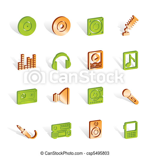 Music and sound icons  - csp5495803