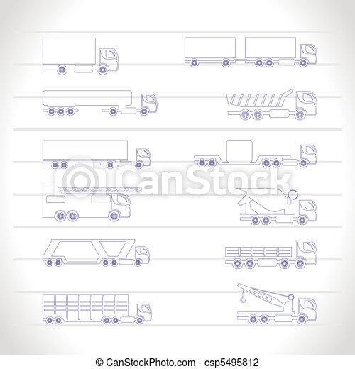 different types of trucks  - csp5495812