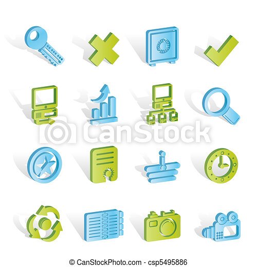 Internet and Web Site Icons - csp5495886