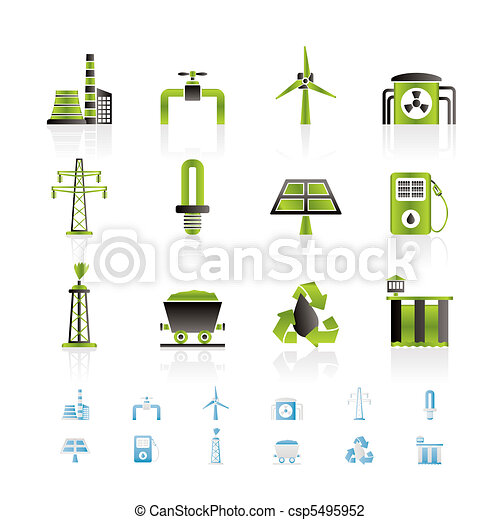 Power and electricity industry icon - csp5495952