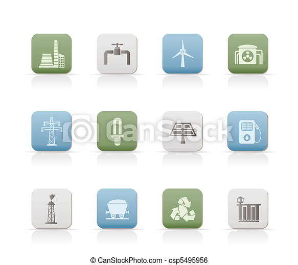 Power and electricity industry icon - csp5495956
