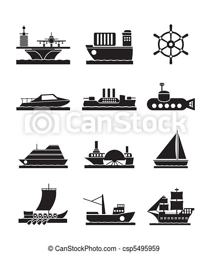 different types of boat and ships - csp5495959