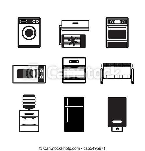 Home electronics and equipment icon - csp5495971