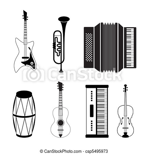 Musical instrument icons - csp5495973