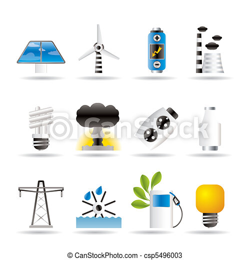 Power, energy and electricity icons - csp5496003