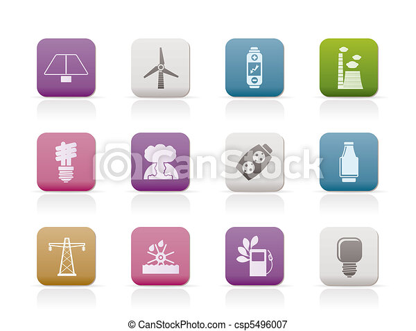 Power, energy and electricity icons - csp5496007