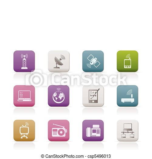 communication and technology icons - csp5496013