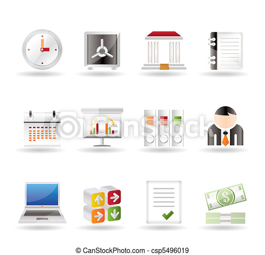 Business, finance and office icons  - csp5496019