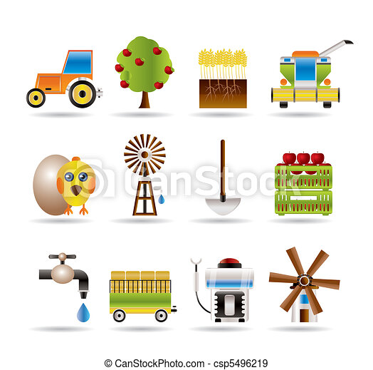 farming industry and farming tools - csp5496219