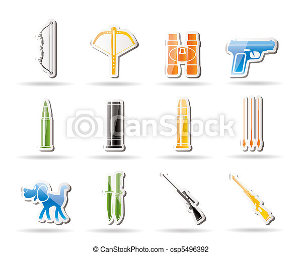 Hunting and arms Icons - csp5496392