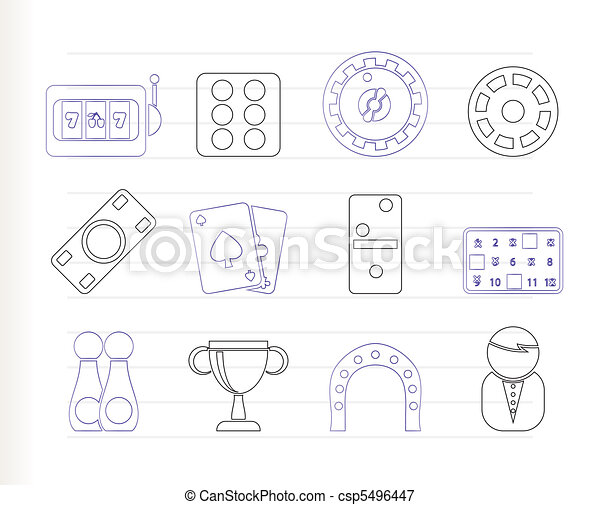 gambling and casino Icons - csp5496447