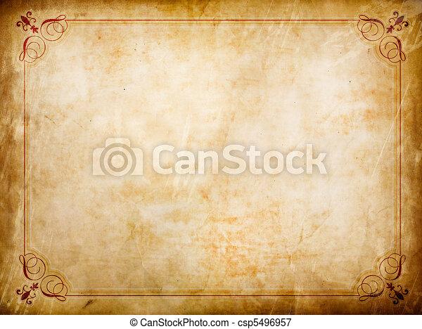 Grunge certificate - csp5496957