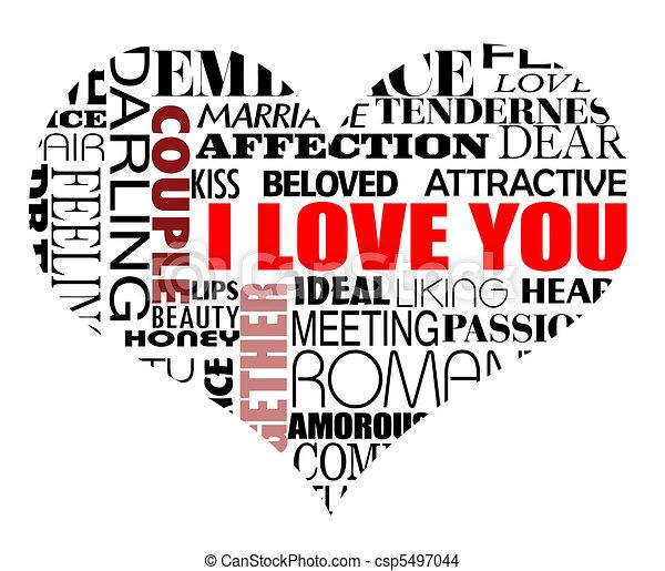 various love words - csp5497044