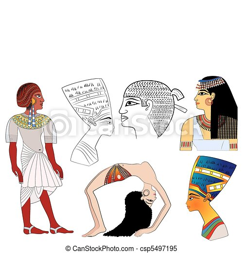 elements of ancient Egypt - vector - csp5497195