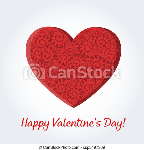 Valentines Day Card - csp5497389