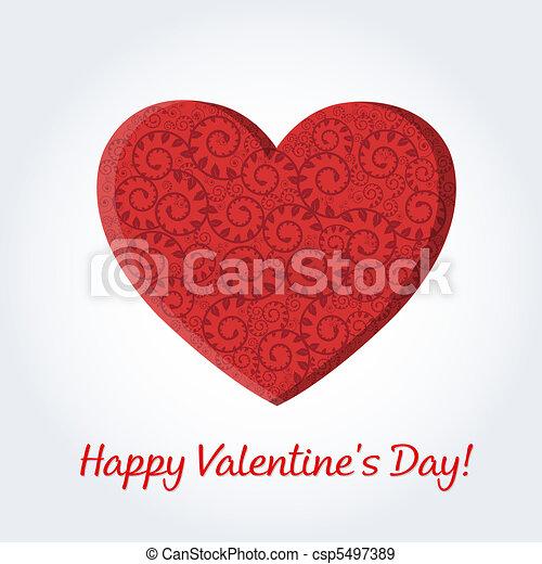 Valentines Day Card - csp5497389
