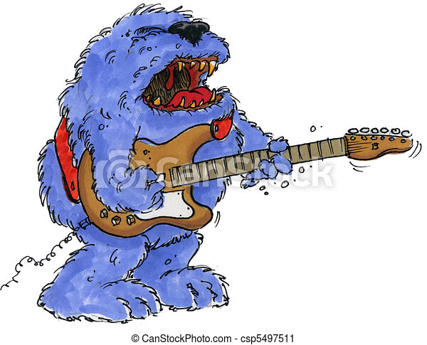 rock monster guitar - csp5497511