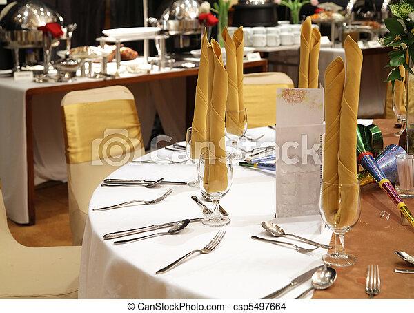 gala dinner table setup - csp5497664