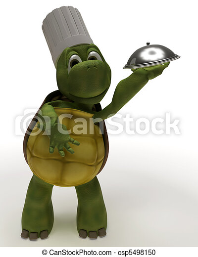 Tortoise Caricature as a Chef - csp5498150